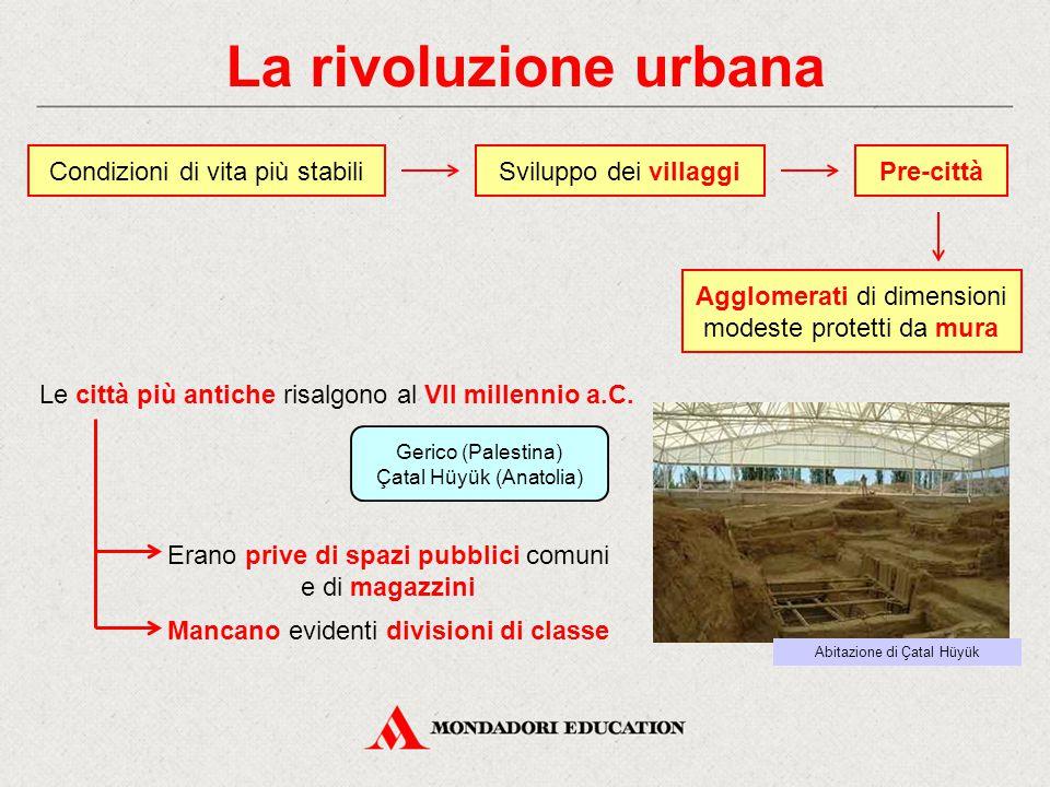 La rivoluzione urbana Condizioni di vita più stabili