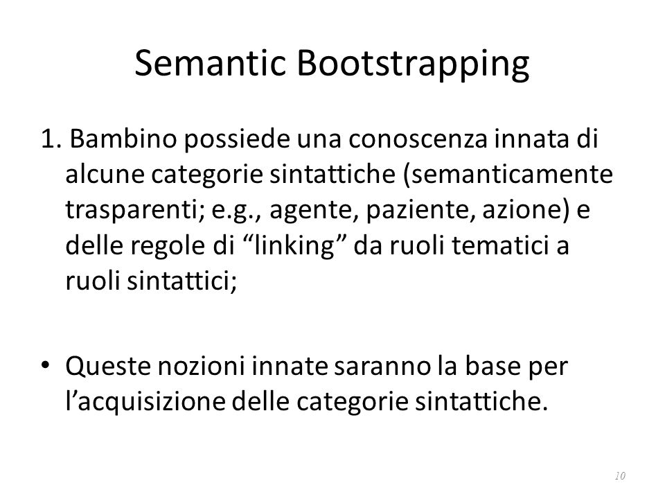 Semantic Bootstrapping