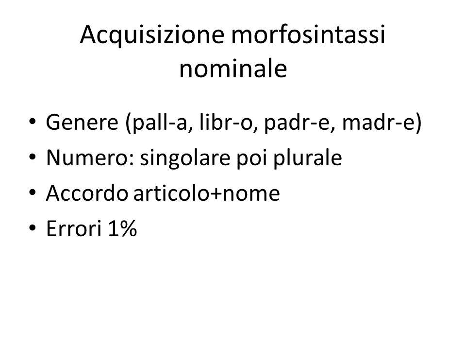 Acquisizione morfosintassi nominale