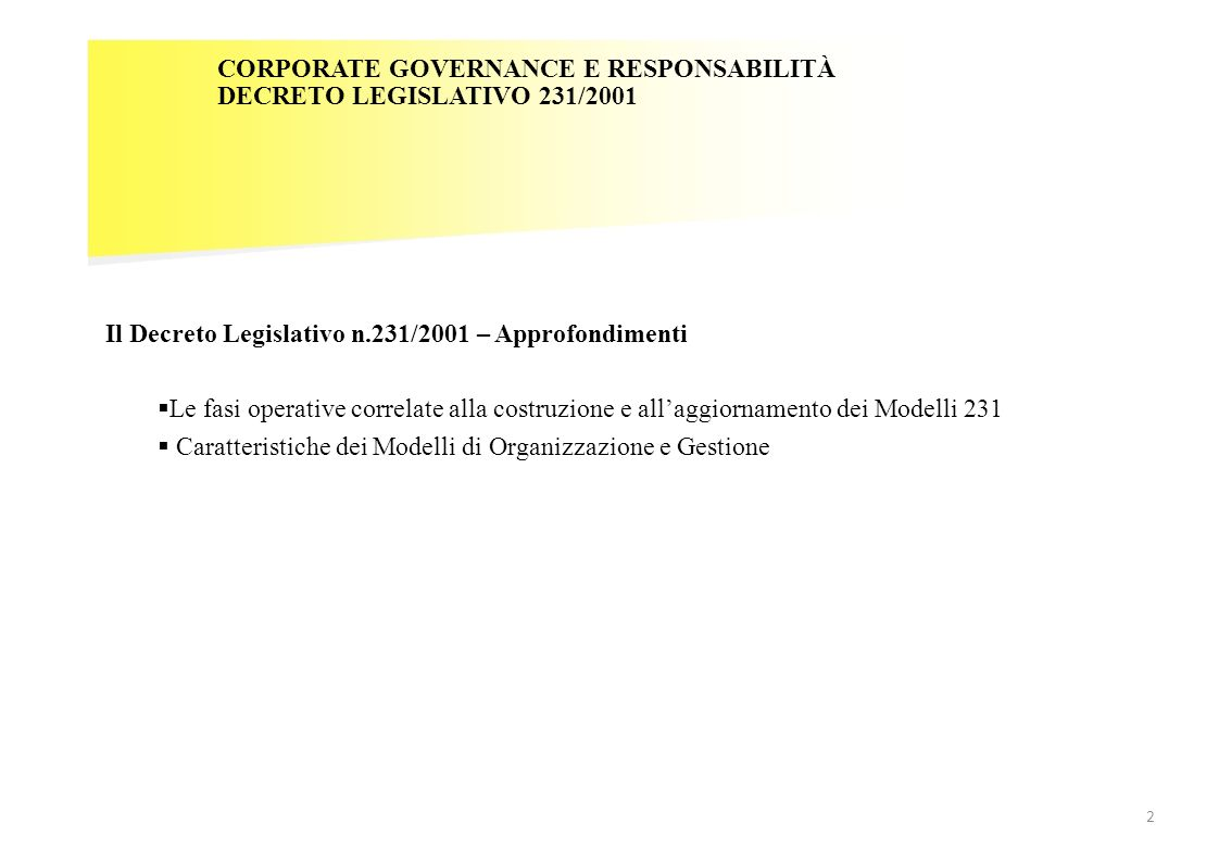 CORPORATE GOVERNANCE E RESPONSABILITÀ