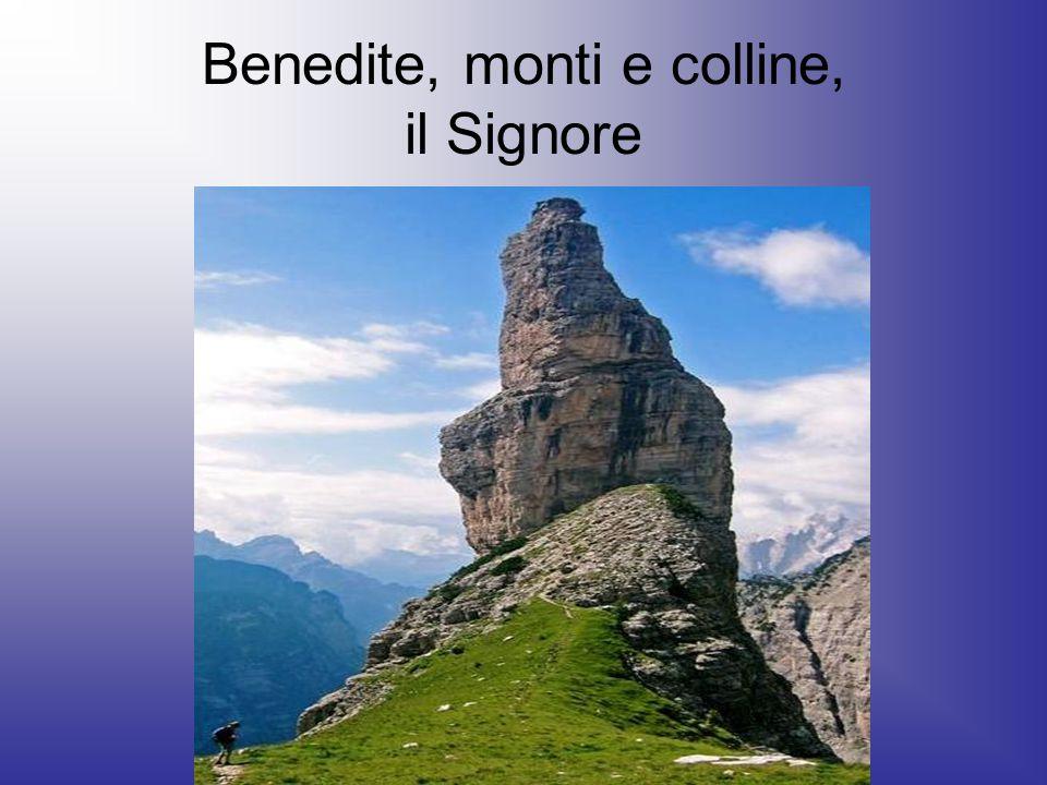 Benedite, monti e colline, il Signore
