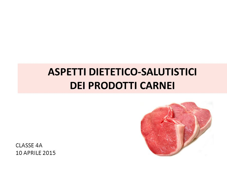 ASPETTI DIETETICO-SALUTISTICI