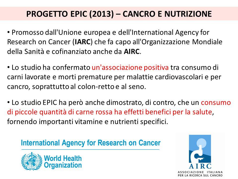 PROGETTO EPIC (2013) – CANCRO E NUTRIZIONE