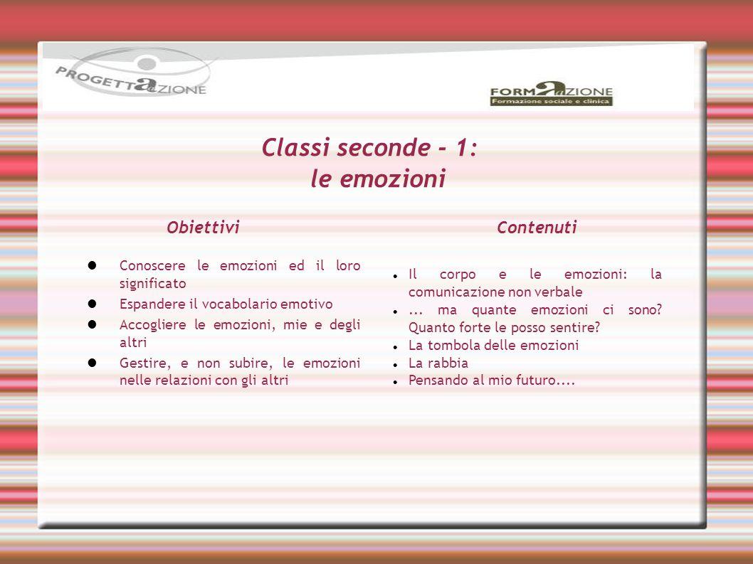 Classi seconde - 1: le emozioni