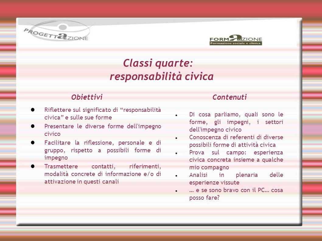 Classi quarte: responsabilità civica