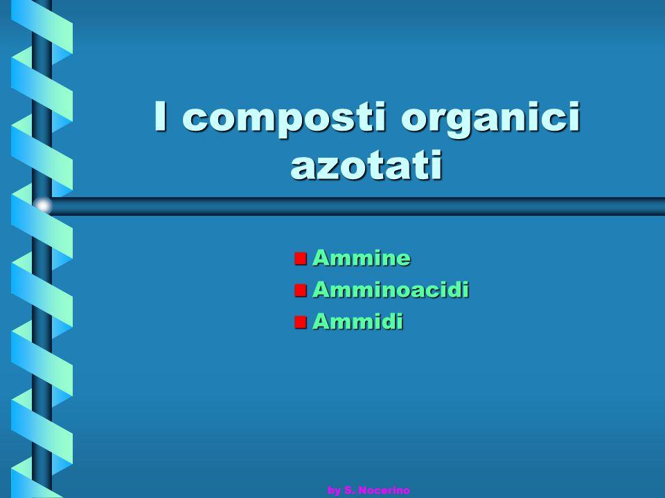 I composti organici azotati