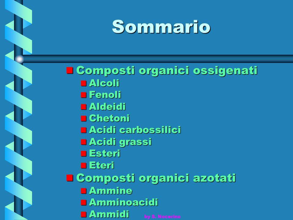 Sommario Composti organici ossigenati Composti organici azotati Alcoli