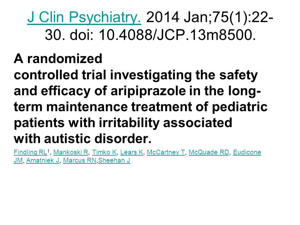 J Clin Psychiatry. 2014 Jan;75(1):22-30. doi: 10.4088/JCP.13m8500.