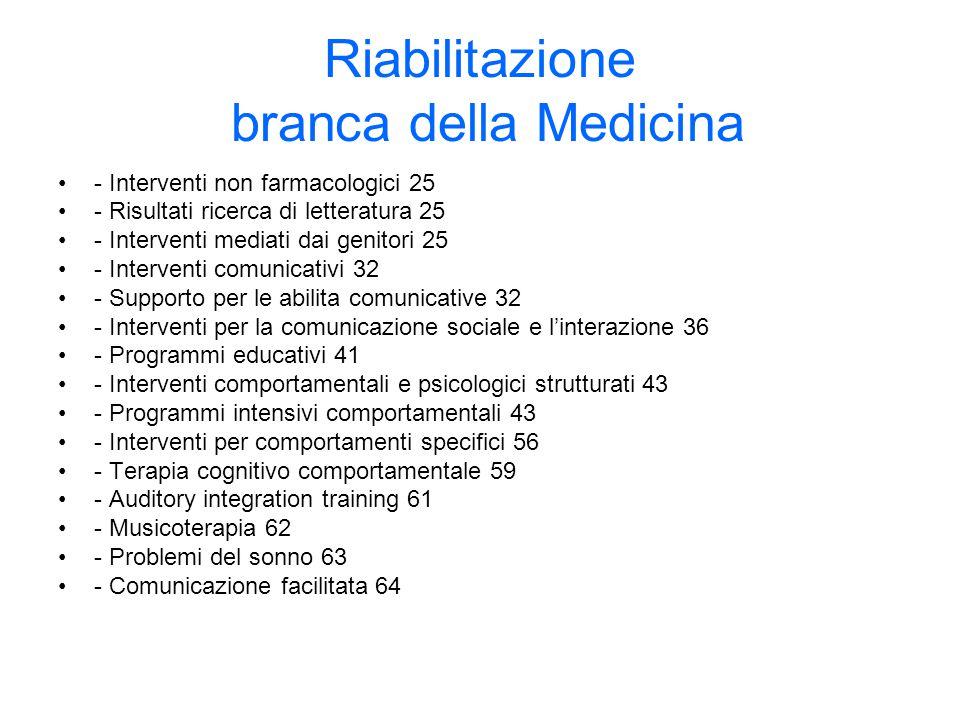 Riabilitazione branca della Medicina