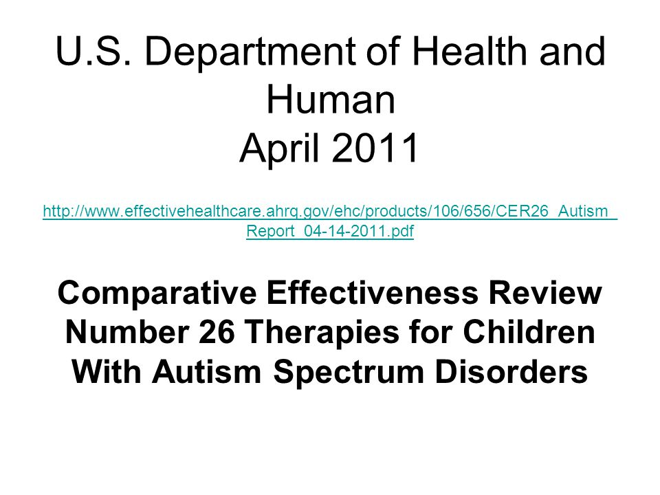 U.S. Department of Health and Human April 2011