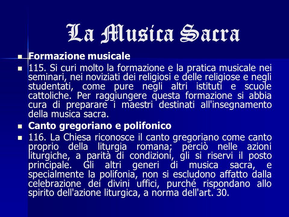 La Musica Sacra Formazione musicale