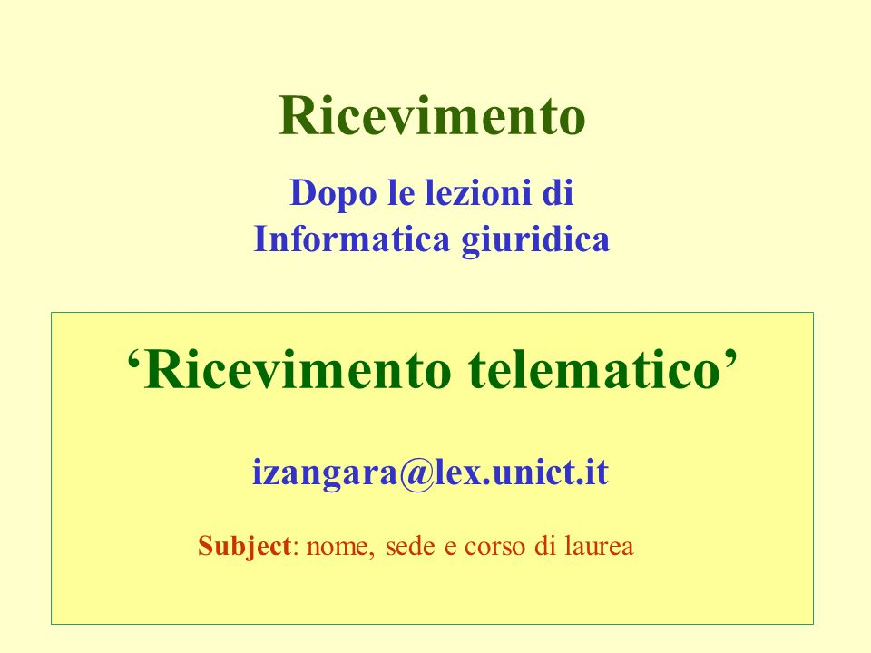 Informatica (conoscenza) - Introduzione al corso (I. Zangara)