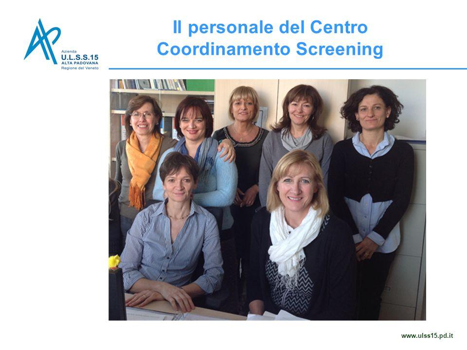 Il personale del Centro Coordinamento Screening