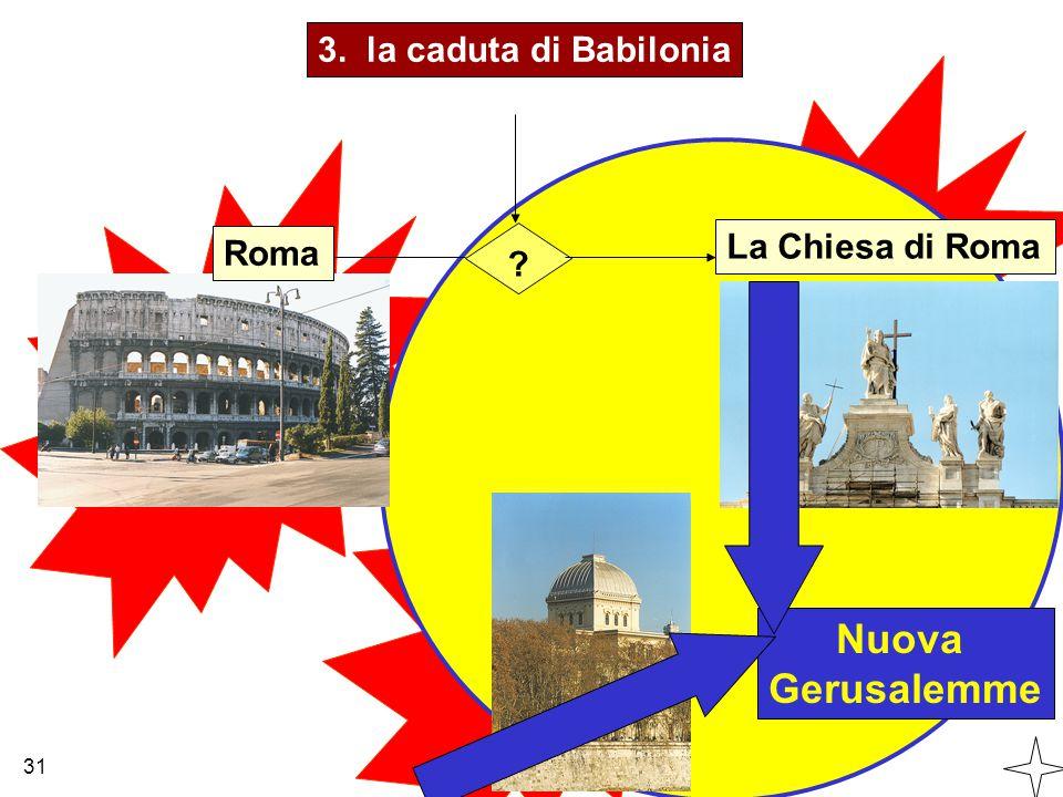 Nuova Gerusalemme 3. la caduta di Babilonia La Chiesa di Roma Roma