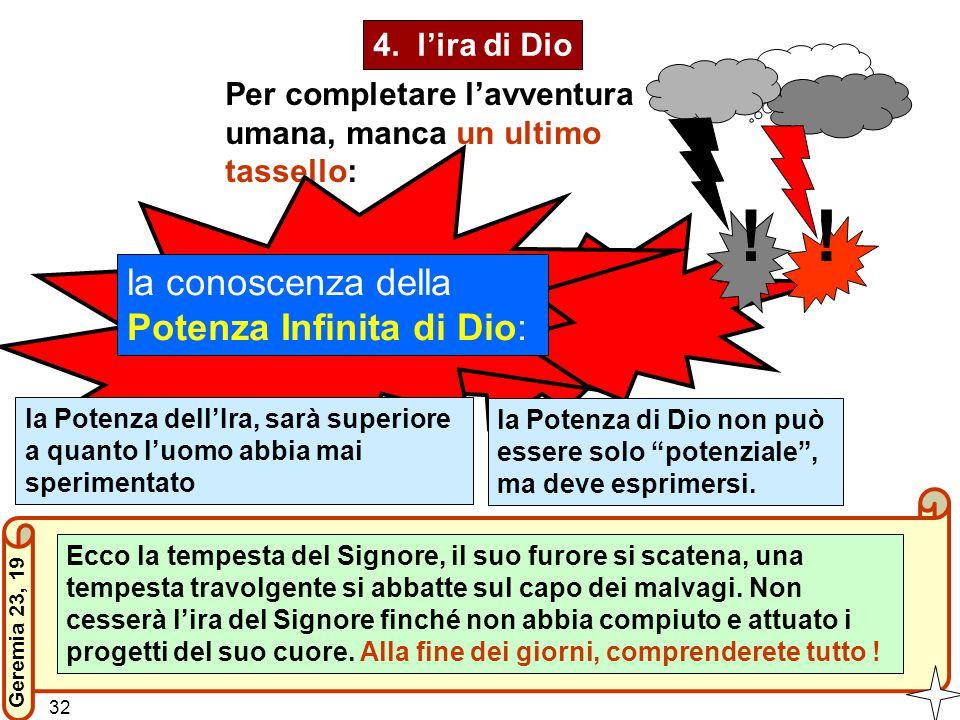 ! ! la conoscenza della Potenza Infinita di Dio: 4. l'ira di Dio