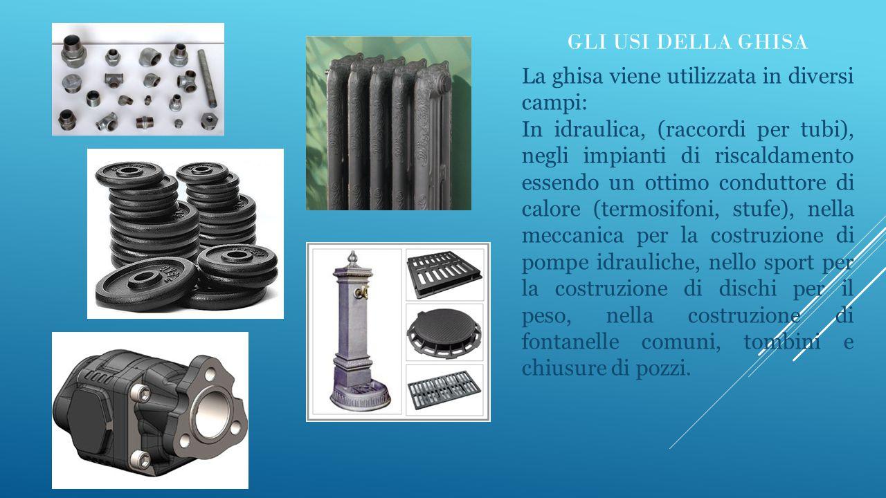 Gli usi della ghisa La ghisa viene utilizzata in diversi campi: