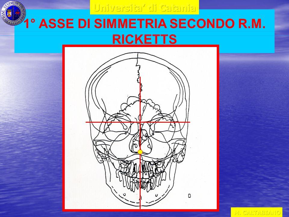 1° ASSE DI SIMMETRIA SECONDO R.M. RICKETTS