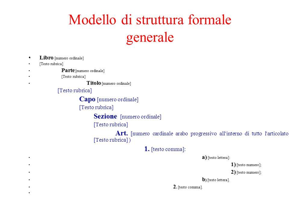 Modello di struttura formale generale