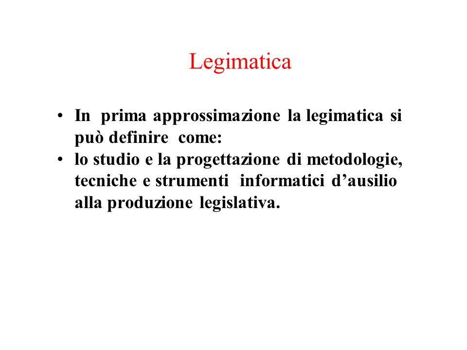 Legimatica In prima approssimazione la legimatica si può definire come: