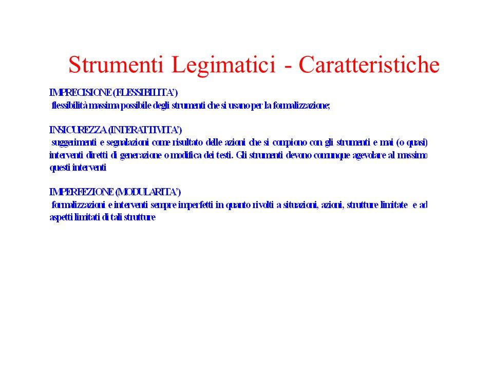 Strumenti Legimatici - Caratteristiche