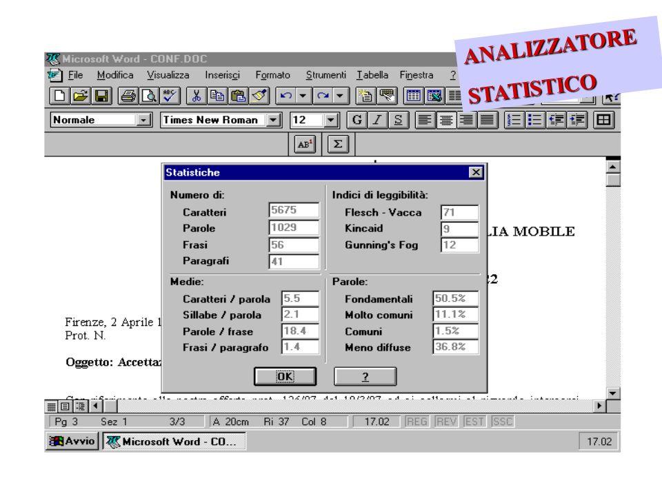 ANALIZZATORE STATISTICO