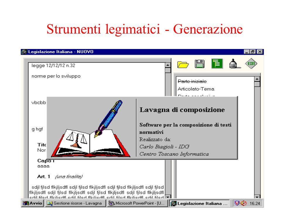 Strumenti legimatici - Generazione