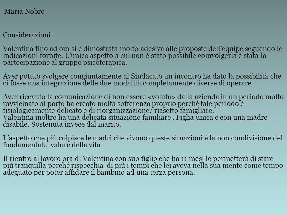 Maria Nobre Considerazioni:
