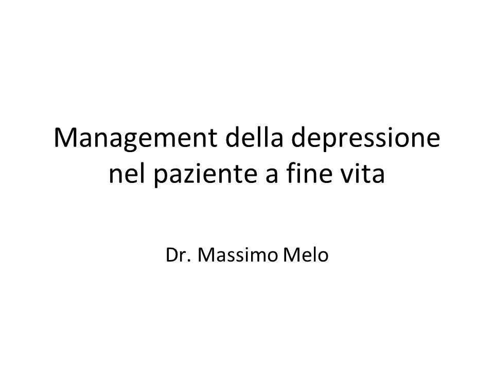Management della depressione nel paziente a fine vita