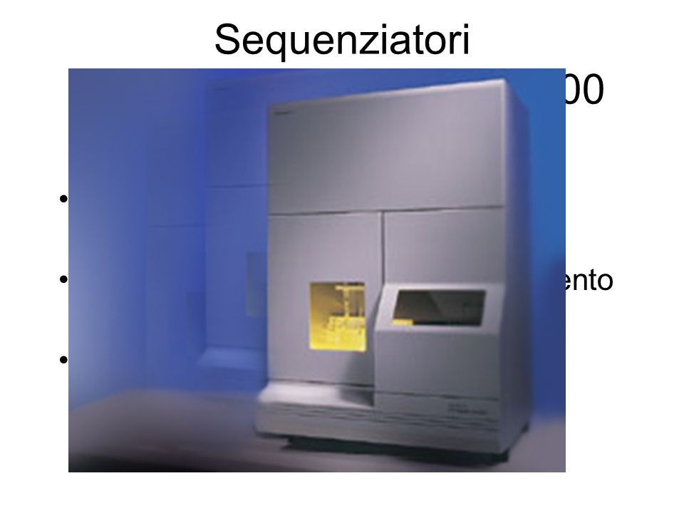 Sequenziatori ABI PRISM 310, 3100, 8000