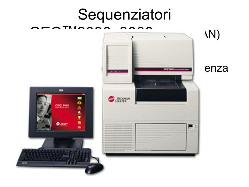 Sequenziatori CEQTM2000, 8000 (BECKMAN)