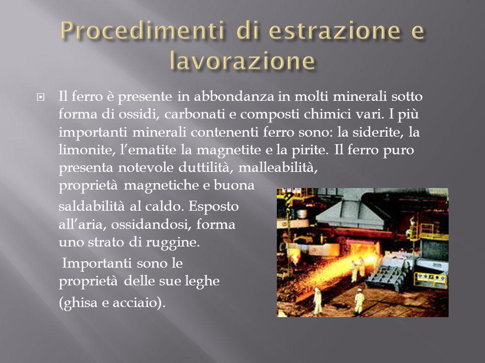 Procedimenti di estrazione e lavorazione