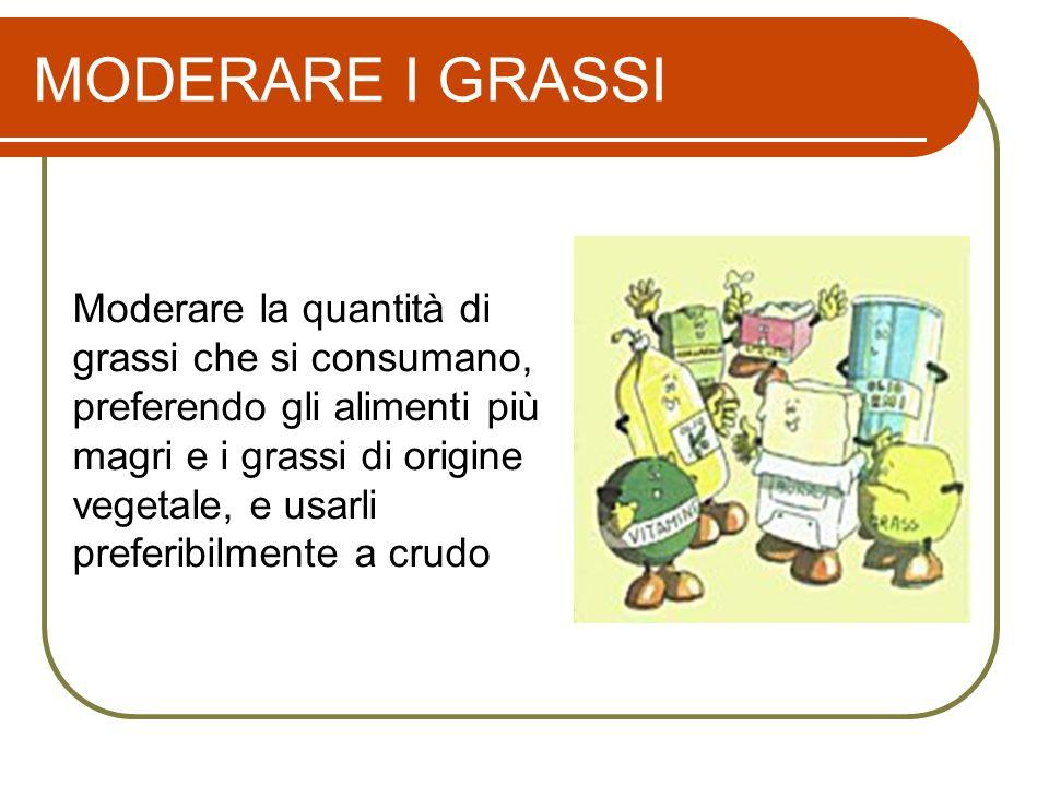 MODERARE I GRASSI