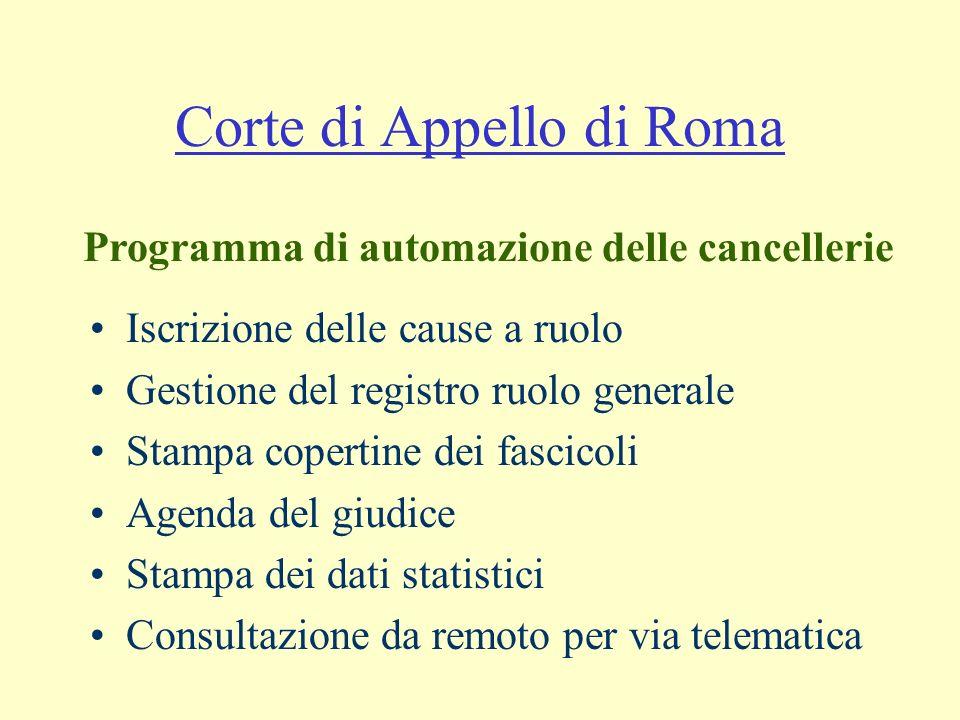 Corte di Appello di Roma