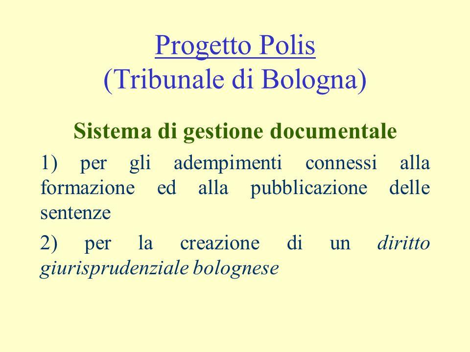 Progetto Polis (Tribunale di Bologna)