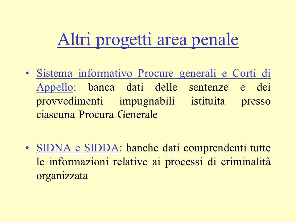 Altri progetti area penale