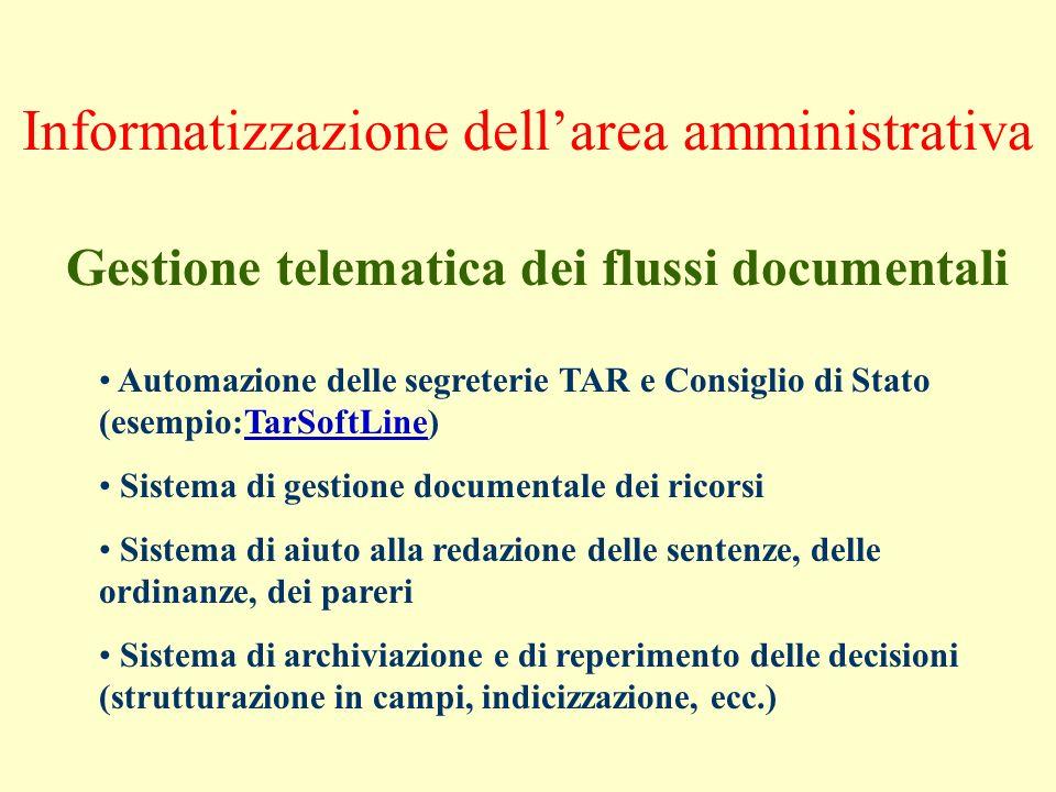 Informatizzazione dell'area amministrativa