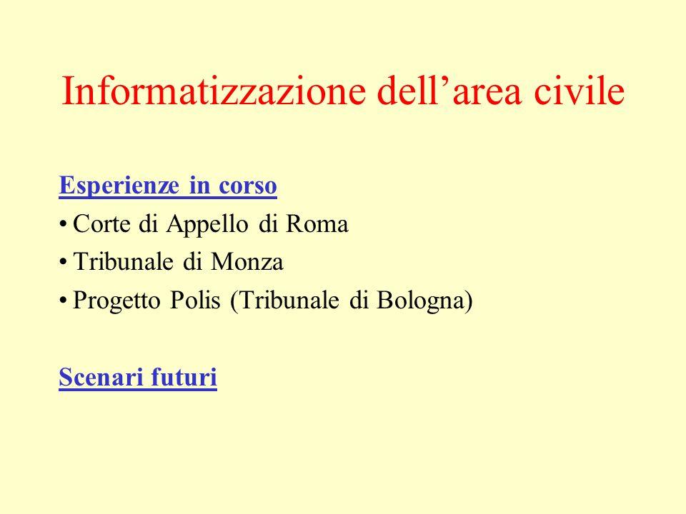 Informatizzazione dell'area civile