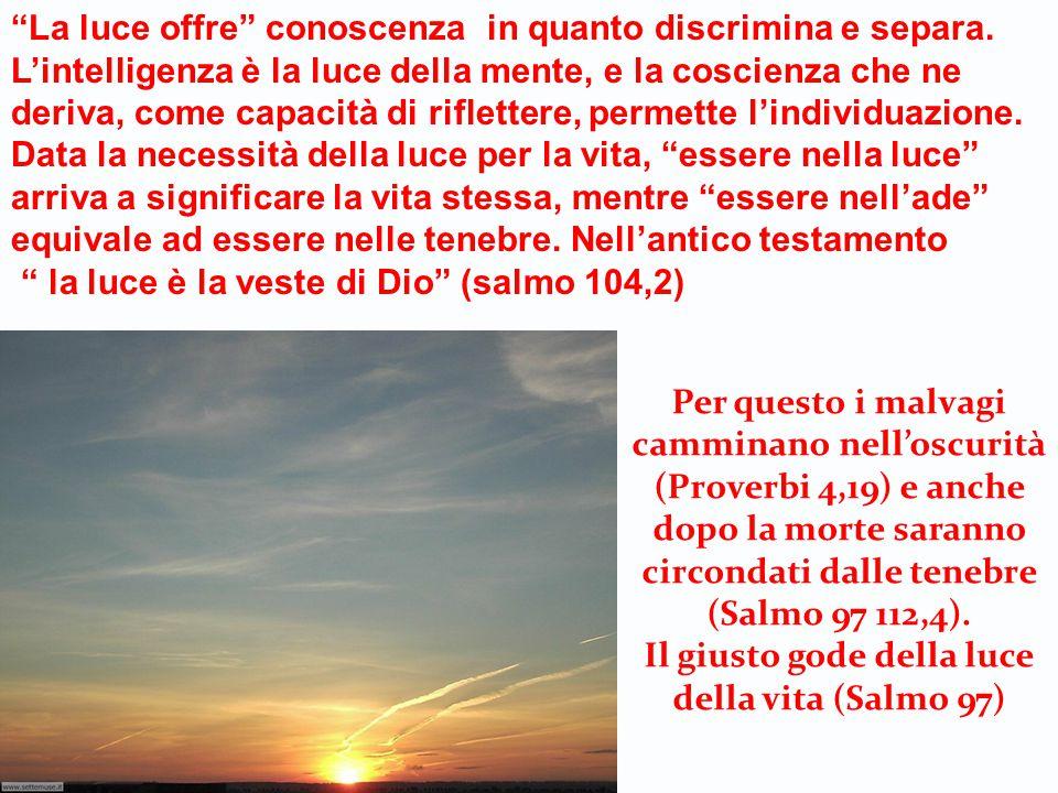 Il giusto gode della luce della vita (Salmo 97)