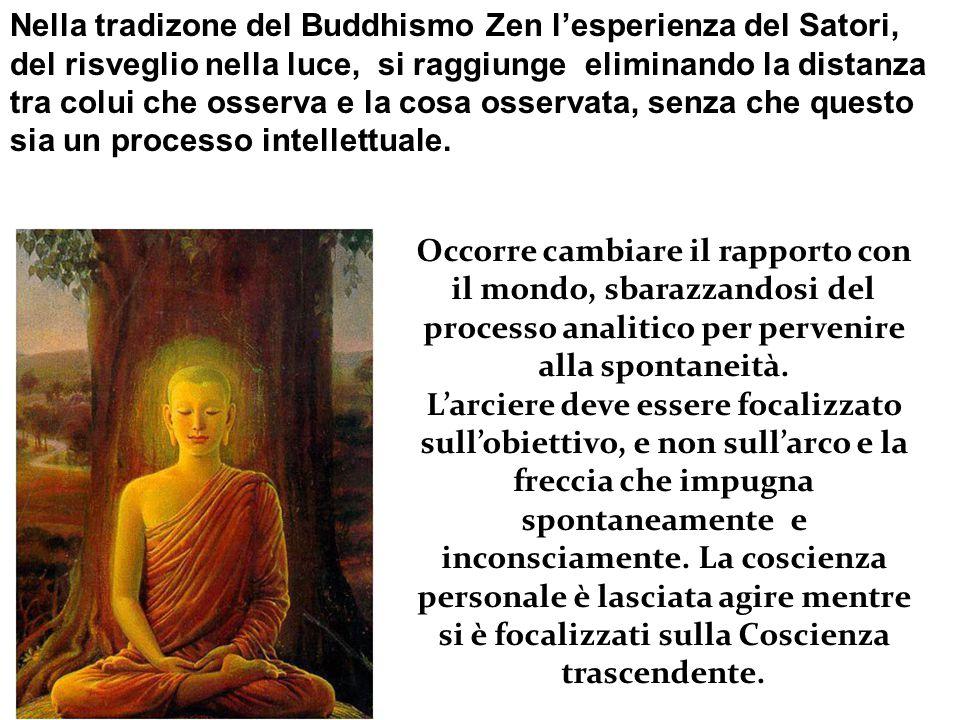 Nella tradizone del Buddhismo Zen l'esperienza del Satori,