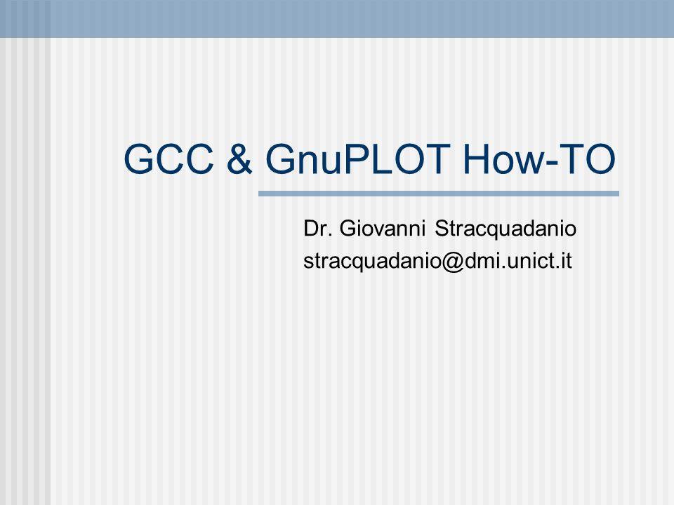 Dr. Giovanni Stracquadanio stracquadanio@dmi.unict.it