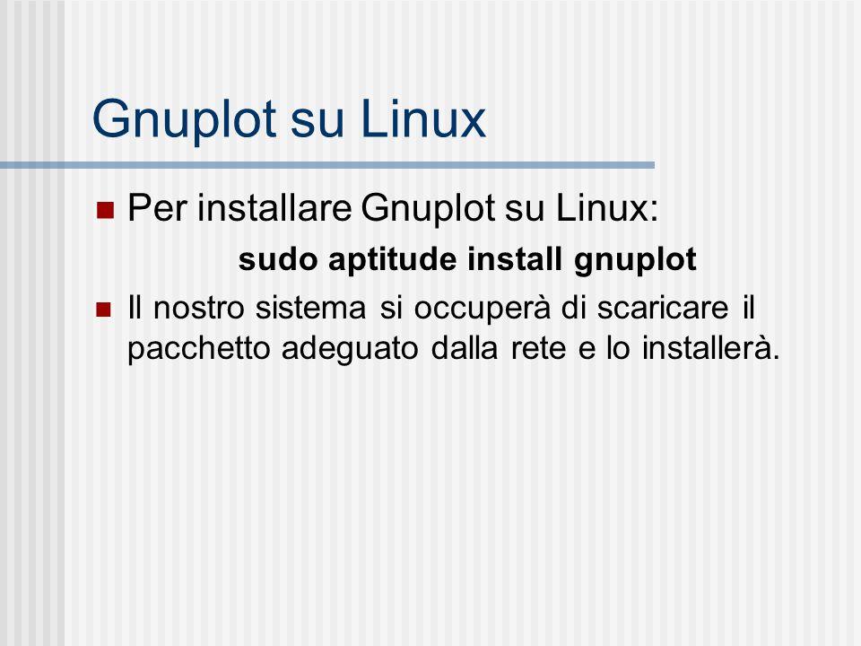 sudo aptitude install gnuplot