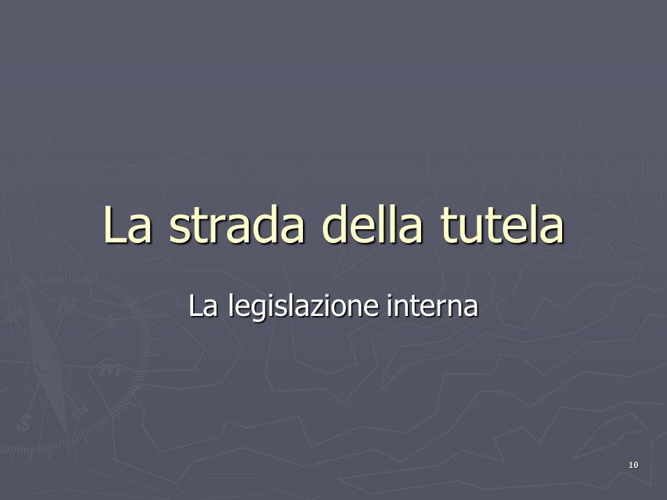 La legislazione interna