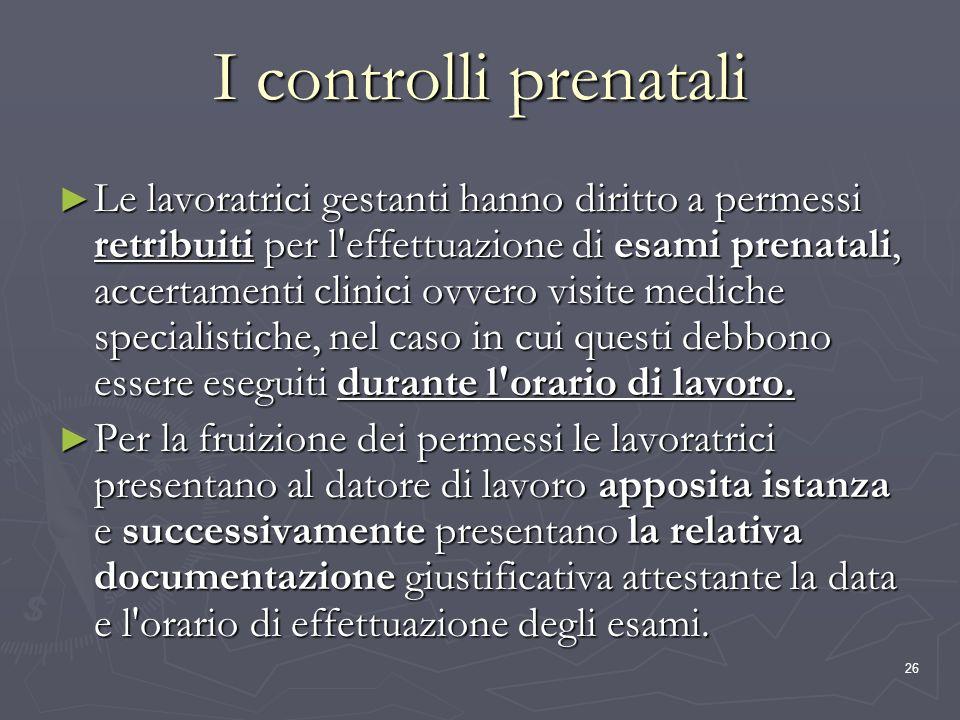 I controlli prenatali