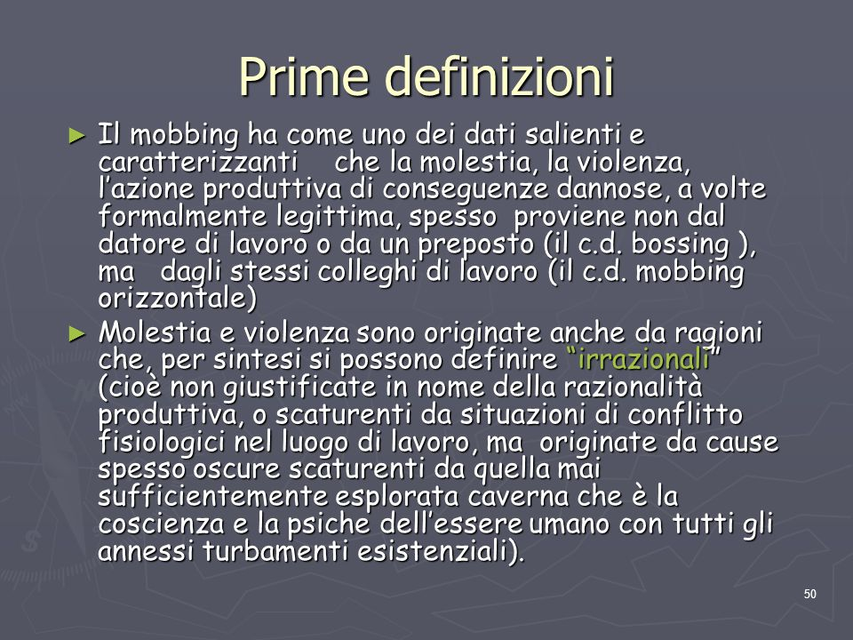 Prime definizioni