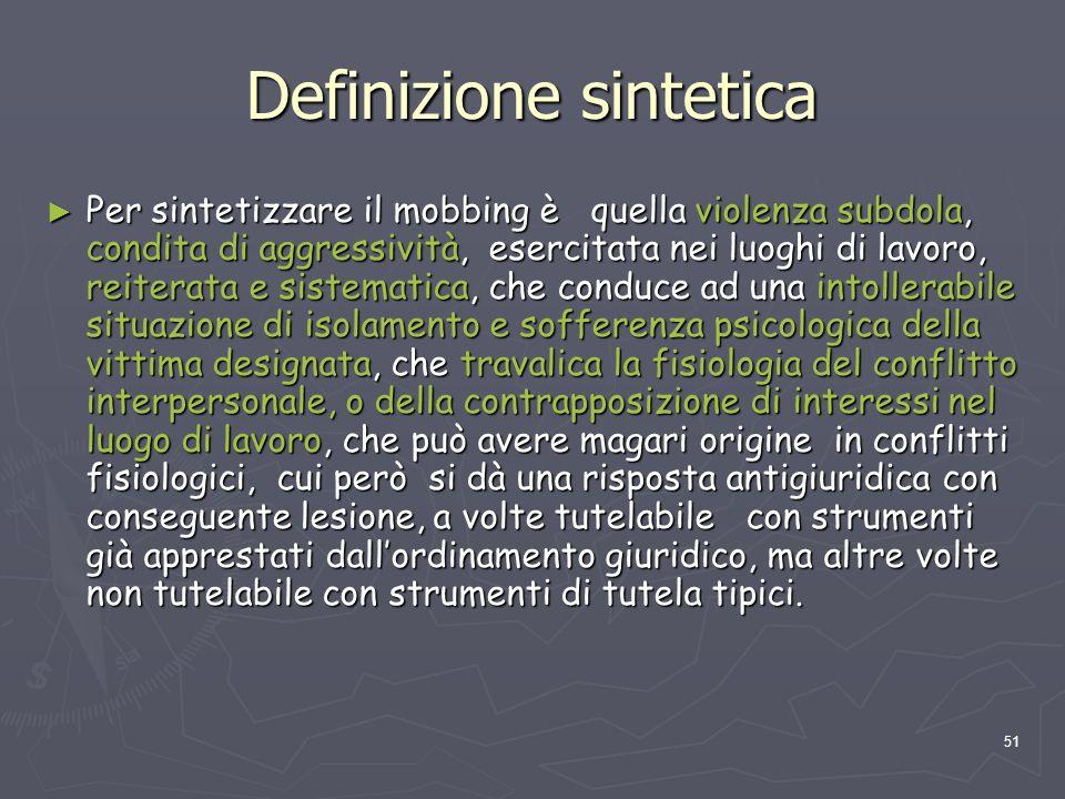Definizione sintetica