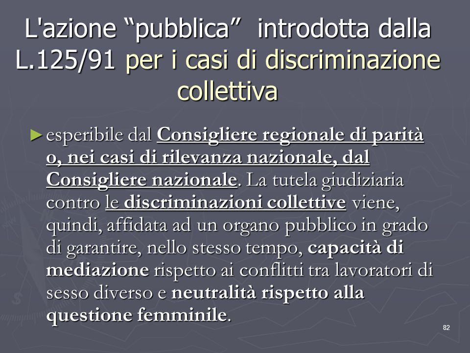 L azione pubblica introdotta dalla L