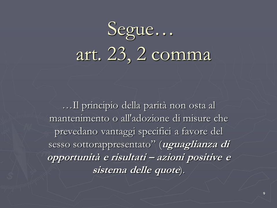 Segue… art. 23, 2 comma