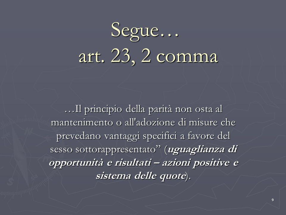Segue… art. 23, 2 comma