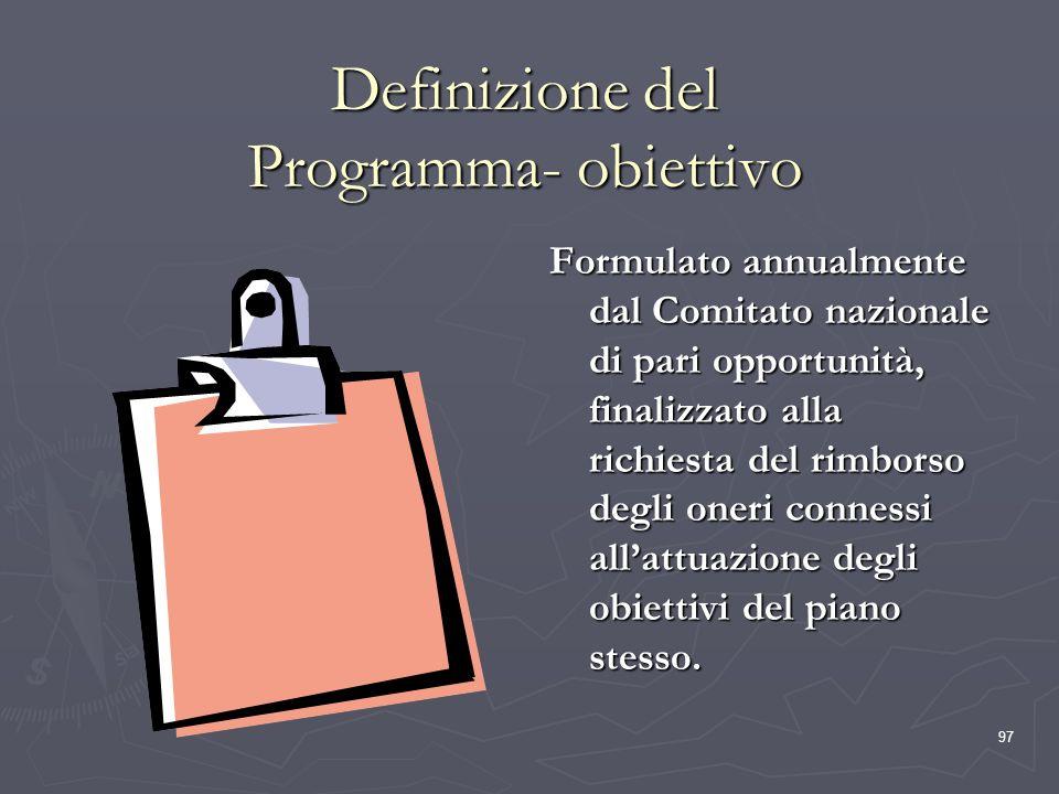 Definizione del Programma- obiettivo
