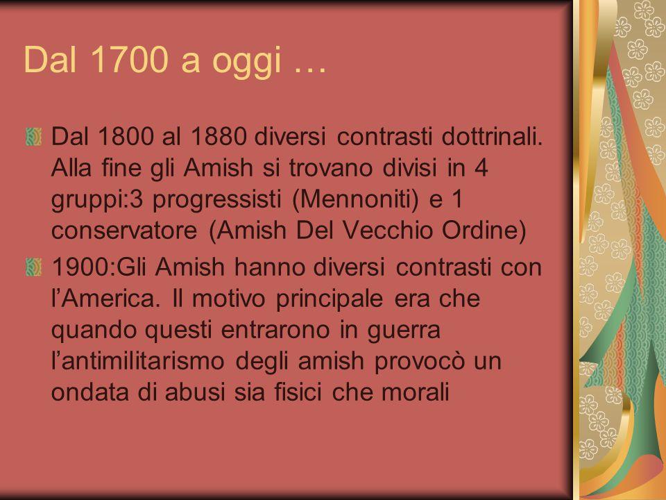 Dal 1700 a oggi …